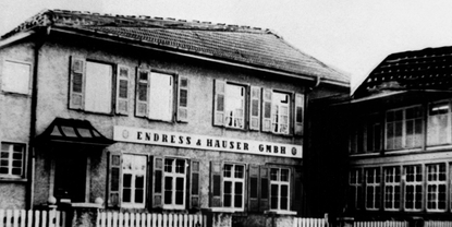 First premises of Endress+Hauser in 1955.