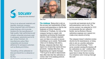 case study, solvay, calibration, service contract