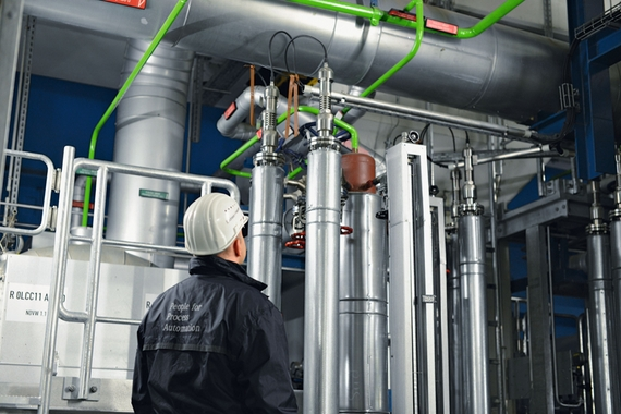 Guided wave radar (GWR) devices mounted in a bypass chamber solution by Endress+Hauser