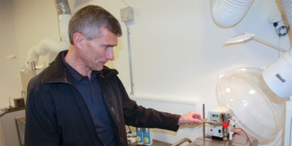 Calibration of temperature sensor in a laboratory by Tommy Mikkelsen, metrologist at chr Hansen